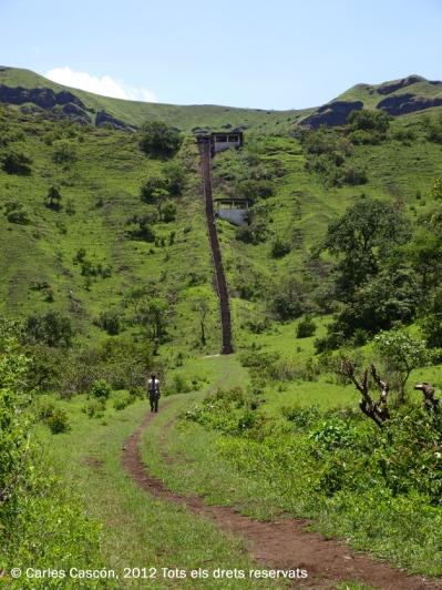 Escala per pujar al cràter