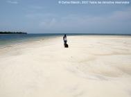 Funzi Island, banco de arena