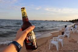 Una Nile Special en la Lido Beach, Lake Victoria, Entebbe