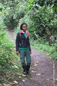 Diana, guía del Bigodi Swamp