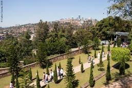 Vista del skyline de Kigali desde el Memorial del Genocidio