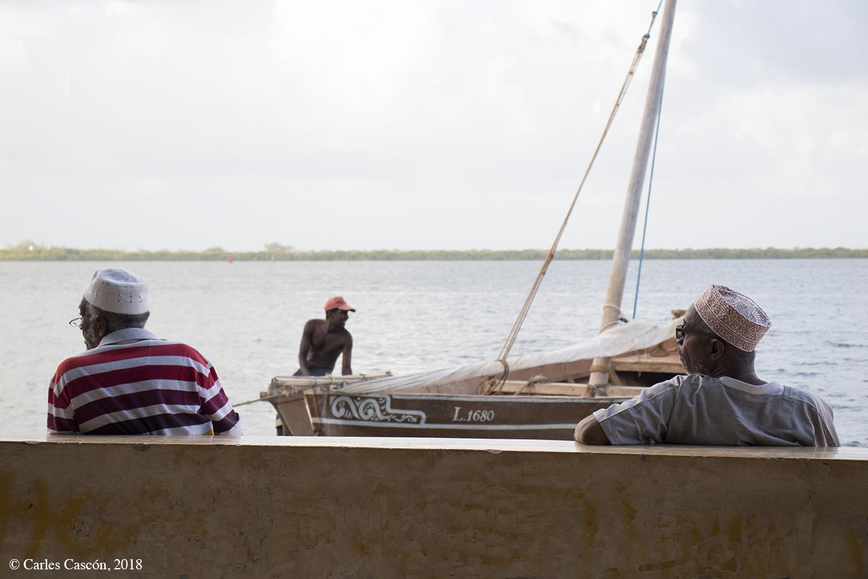 Pescadores en Shela